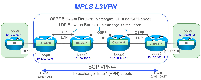 MPLS L3VPN: Label Following Fun with Fish